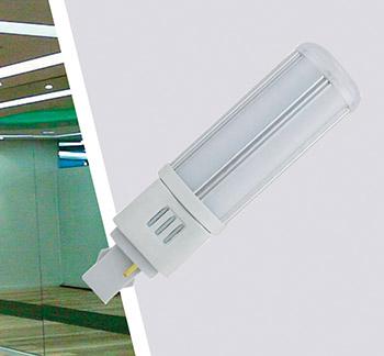 Ledlamppu G24 9W 230VAC 4000K 4pin