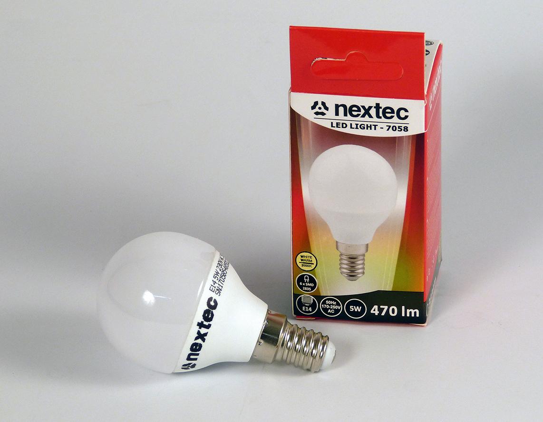 Ledlamppu E14 45x82mm 230V 5W