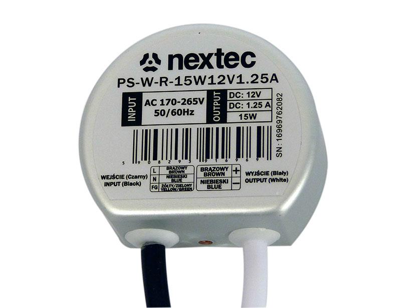 Teholähde 170-265VAC/12VDC,15W,IP67