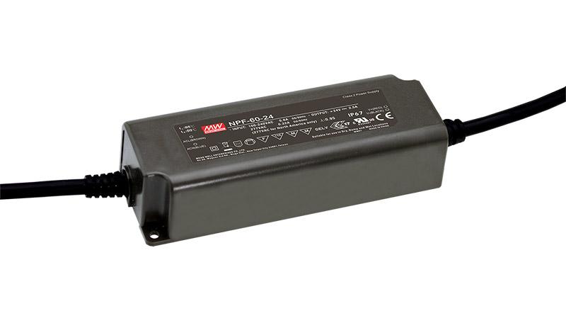 90-264VAC 12VDC 5A 60W IP67
